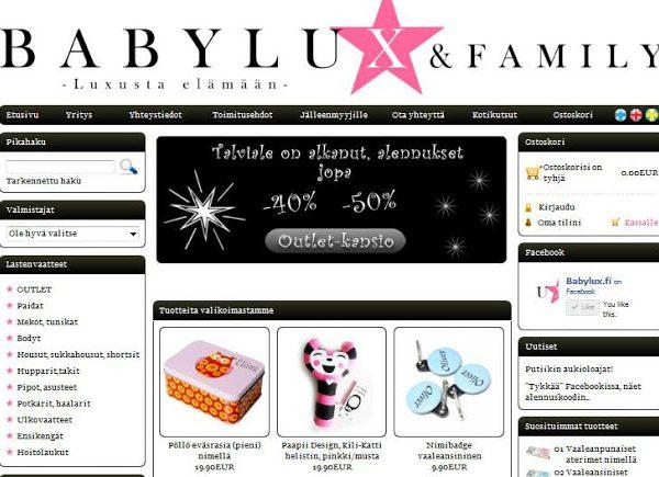 Alennuskoodi Babyluxiin!!