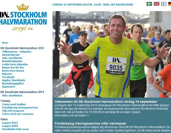 Stockholm Halvmarathon 2012!!