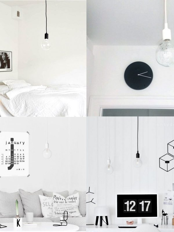 Simple bulb light in black or white?