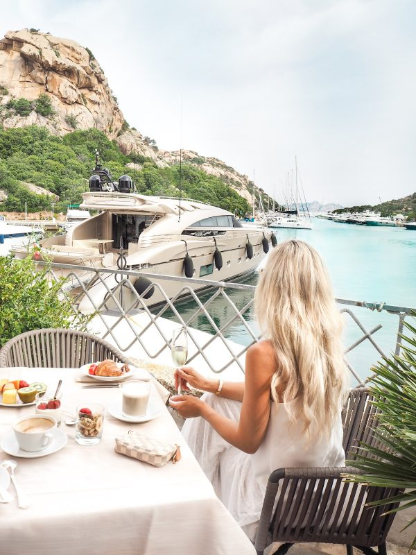 Perfect breakfast view – Costa Smeralda